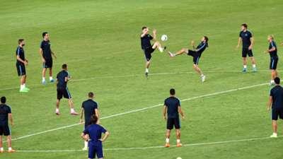 Barcelona Training Session at Dinamo Stadium 10082015