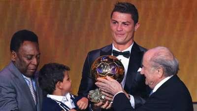 Cristiano Ronaldo Pele Blatter Ballon D'Or 2013