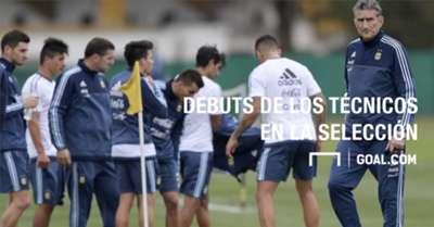 Los debuts de los técnicos en la Selección argentina