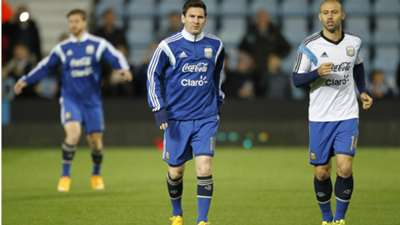 Messi Mascherano Argentina Croacia International Friendly 12112014