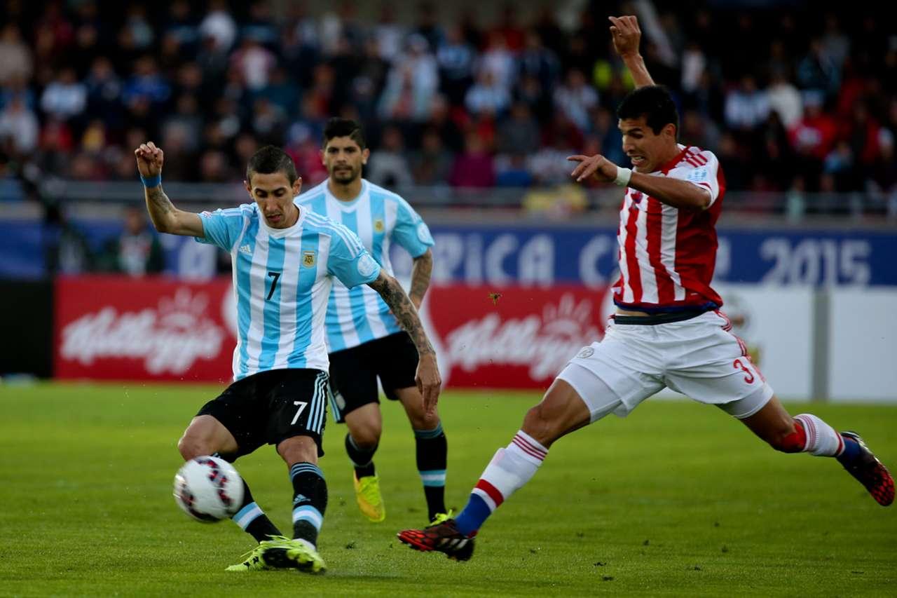 Angel Di Maria Argentina Paraguay Copa América 13062015