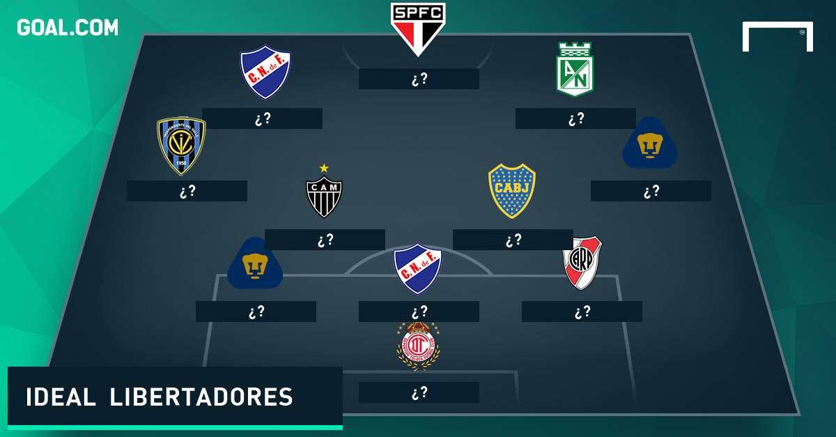 XI ideal de la fase de grupos de la Copa Libertadores