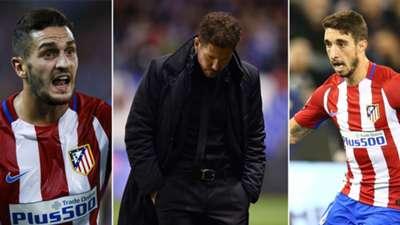Los jugadores más usados por Simeone en Atlético de Madrid