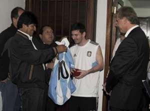 Evo Morales - Leo Messi