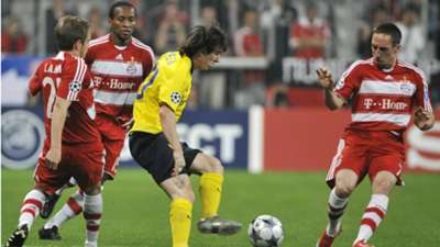 Phlipp Lahm Ze Roberto Lionel Messi Franck Ribery Bayern Munchen Barcelona Champions League 13042009