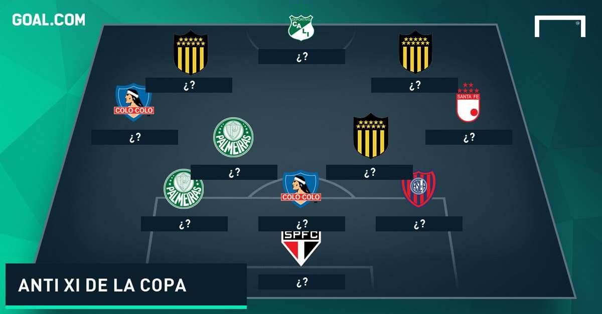 Anti XI de la primera fase de la Copa Libertadores