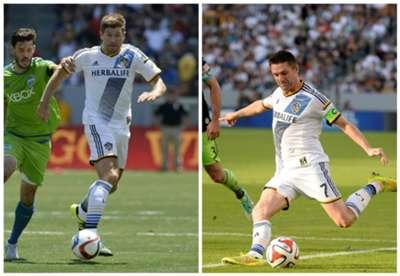 Steven Gerrard Robbie Keane LA Galaxy MLS