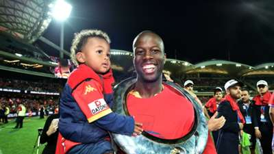 Bruce Djite Adelaide United v Western Sydney Wanderers A-League 01052016
