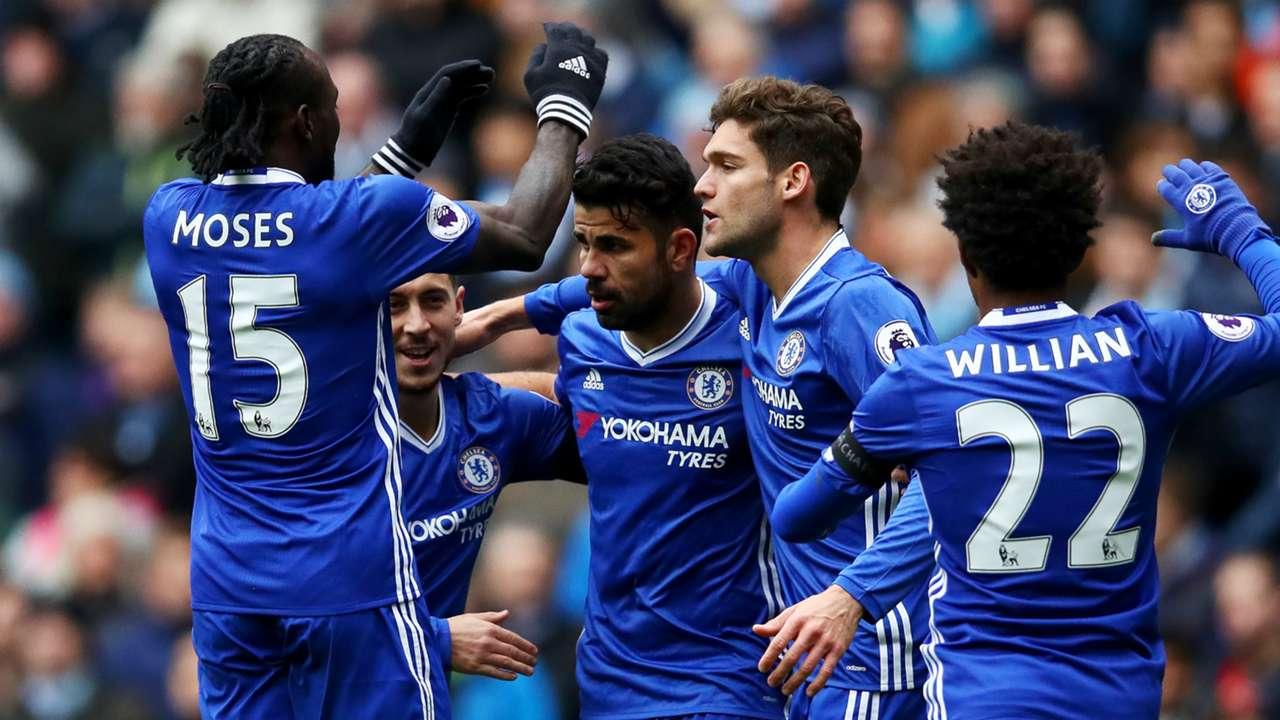 Diego Costa Chelsea v Manchester City Premier League 03122016