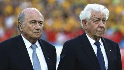 Sepp Blatter Frank Lowy Australia v South Korea Asian Cup final 310115
