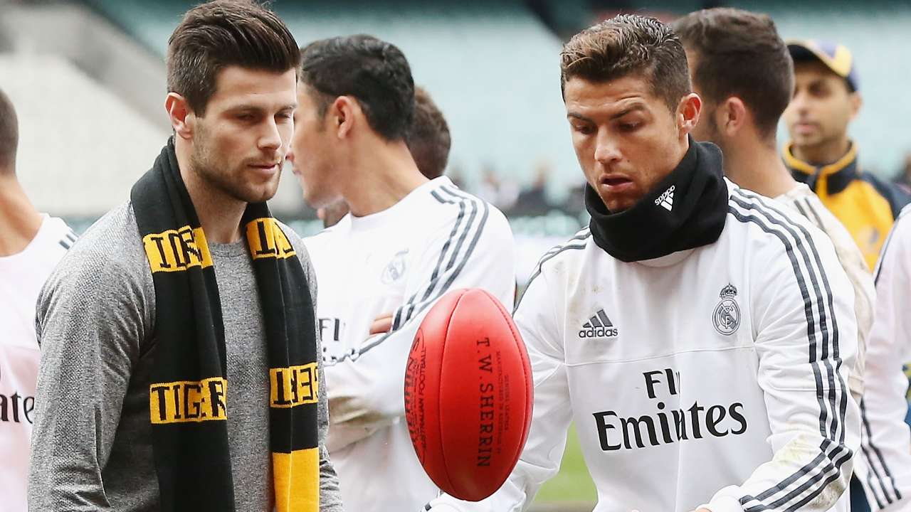 Ronaldo Rules! Madrid stars try out new sport in Australia training session