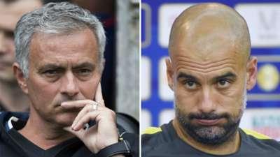 Jose Mourinho Manchester United Pep Guardiola Manchester City Friendlies