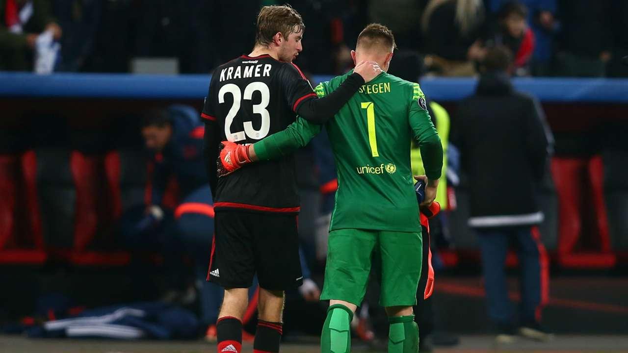 Christian Kramer, Marc-André Ter Stegen | Bayer Leverkusen x Barcelona | 09/12/2015
