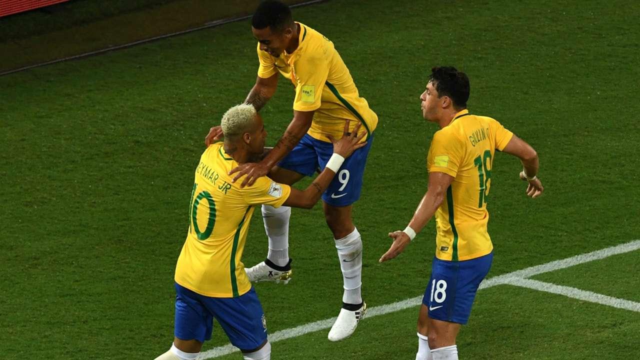 Neymar, Jesus, Giuliano -  Brasil x Bolivia 061016