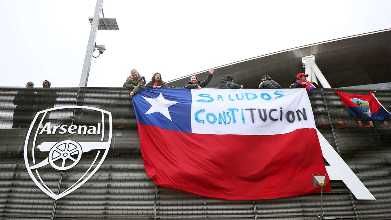 Chilean fans Brazil Chile Intl Friendly 29032015