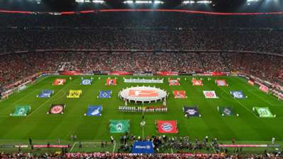 Allianz Arena Bayern Bundesliga teams flags 26082016