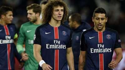 David Luiz e Marquinhos - PSG vs Chelsea UEFA Champions League 16022016