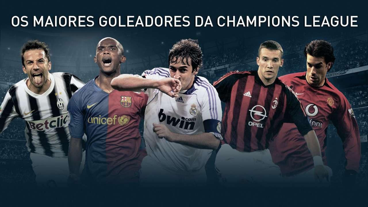 GFX Champions League maiores goleadores