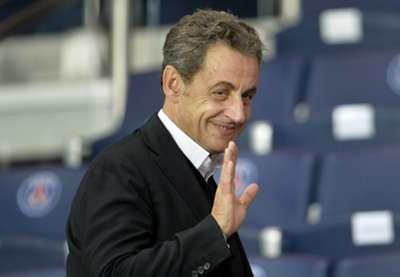 Nicolas Sarkozy ex-presidente francês e torcedor do PSG