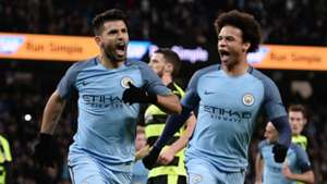 Sergio Aguero Leroy Sane Manchester City Huddersfield FA Cup 01032017