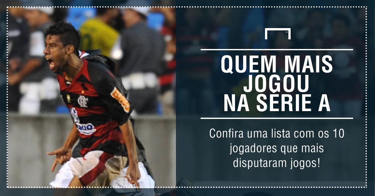 GFX top 10 quem mais jogou o brasileirão