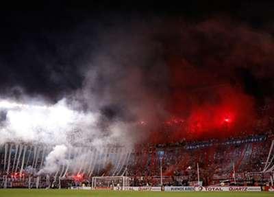 El color del estadio Monumental.