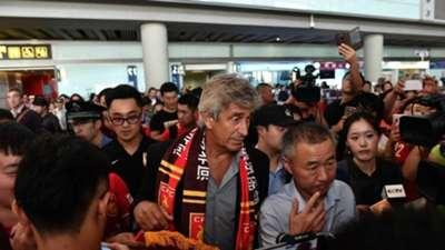 Manuel Pellegrini llegó a China