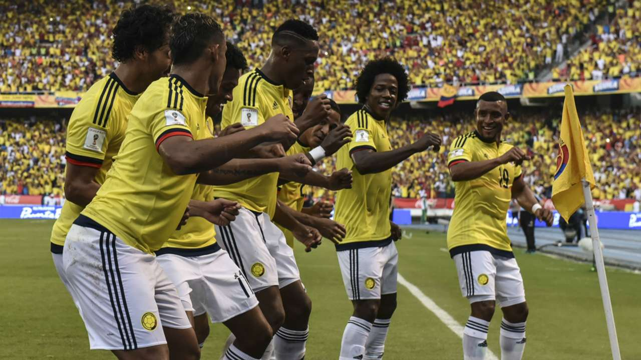 Celebración Colombia vs Uruguay Eliminatoria 2016