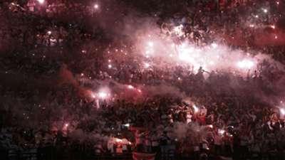 Hinchas Sao Paulo vs Atlético Nacional Copa Libertadores semifinal ida