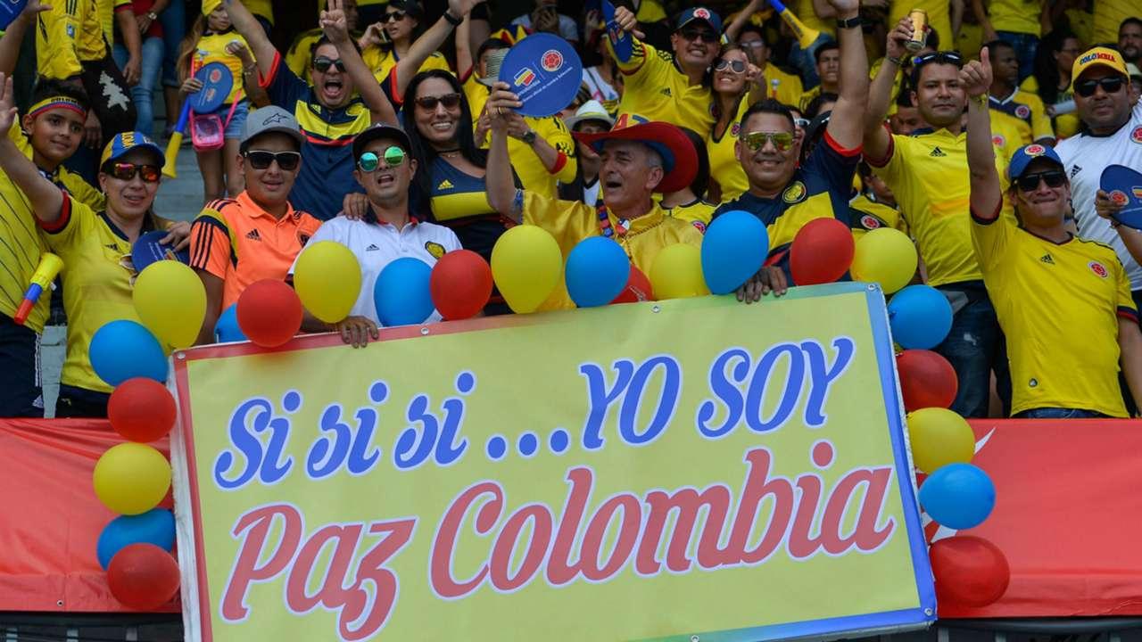 Hincha Colombia en el Metropolitano