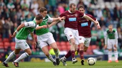 Hearts Hibernian Scottish league