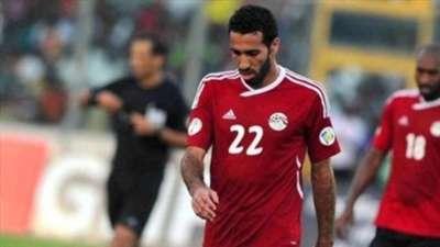 Mahmoud Abdel Razek Shikabala and Mohamed Abou Trika shirt against Egypt