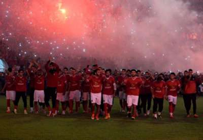 Ahly fans in training