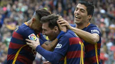 Barcelona 2015-2016 Messi Neymar Suarez
