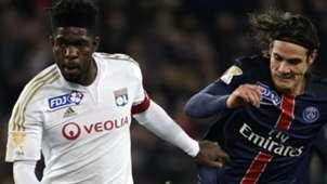 Arnold Mvuemba Edinson Cavani PSG Lyon Coupe de la Ligue 13012016