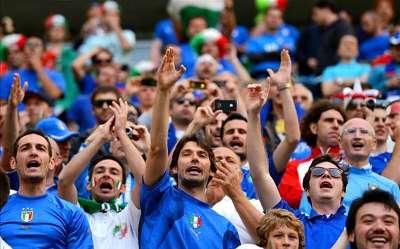 Italy fans Euro 2012