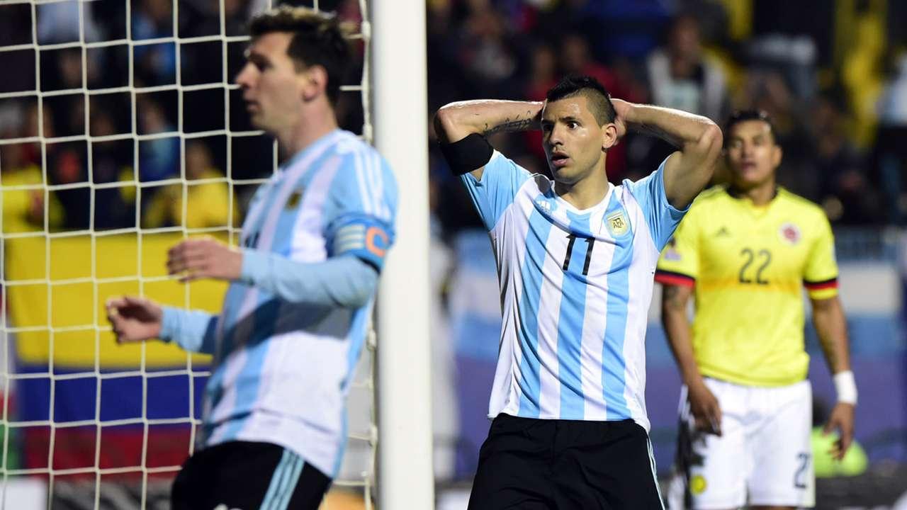 Argentina Colombia Copa America Aguero Messi