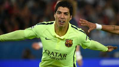 Luis Suarez Paris SG Barcelona UEFA Champions League 15042015