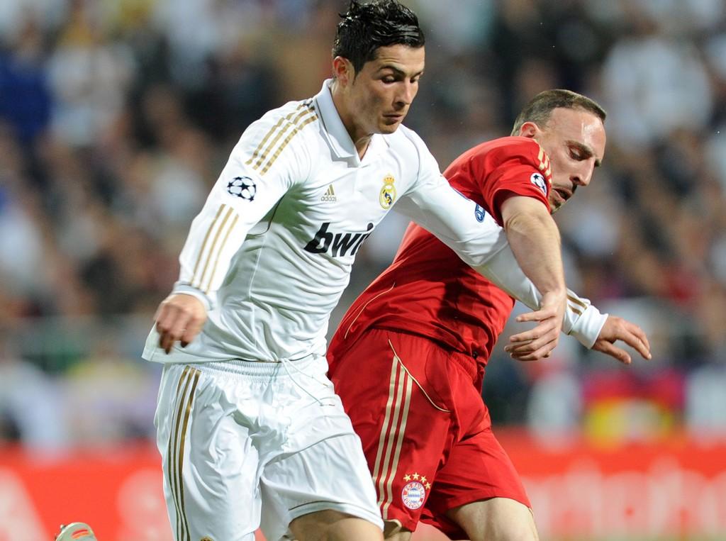 Cristiano Ronaldo Franck Ribery Real Madrid Bayern Munich Champions League 04252012