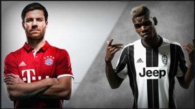 Montage maillot Bayern Juventus