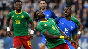 Paul Pogba Ambroise Oyongo France Cameroon Friendly 30052016