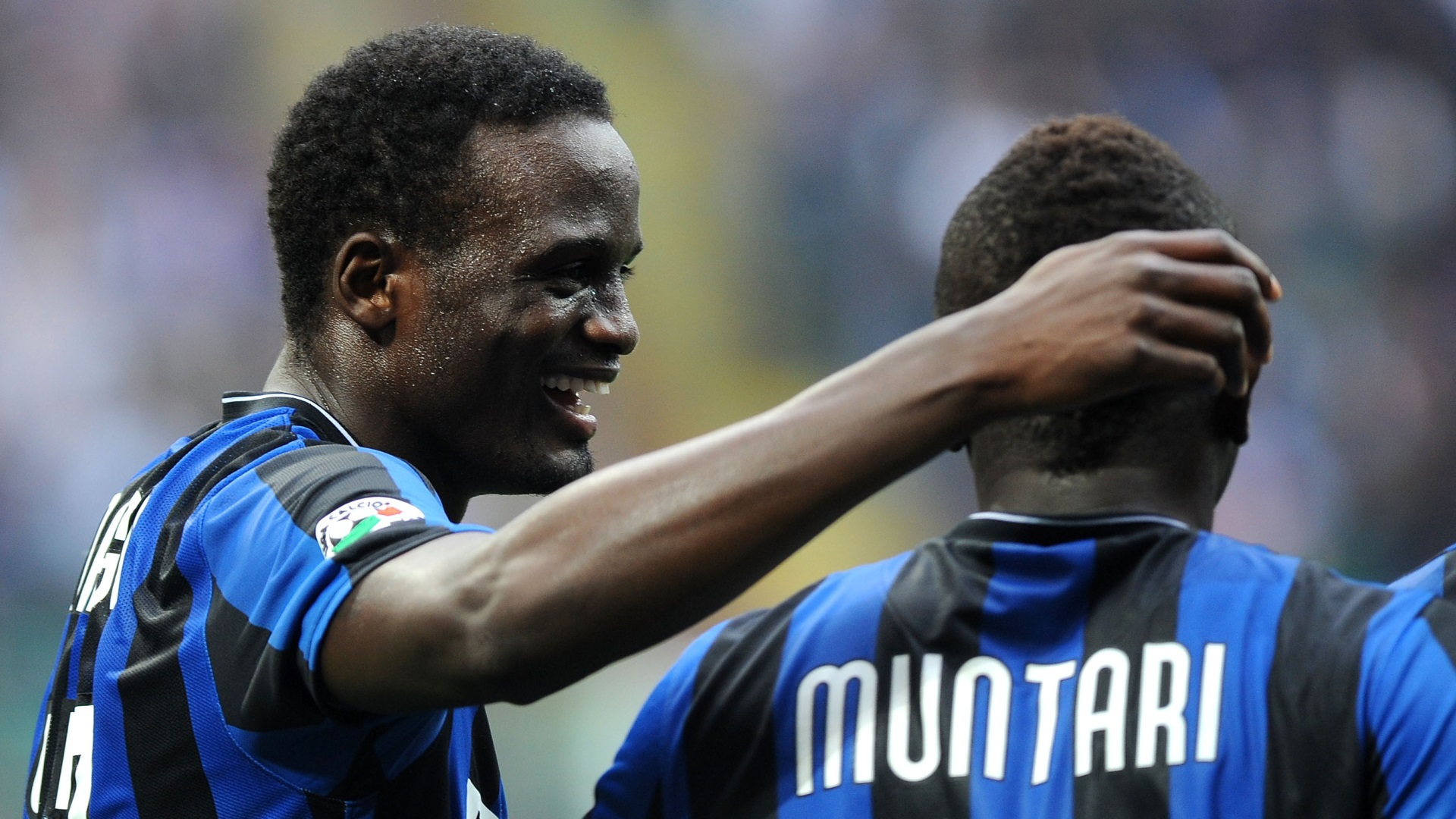 McDonald Mariga & Sulley Muntari of Inter Milan