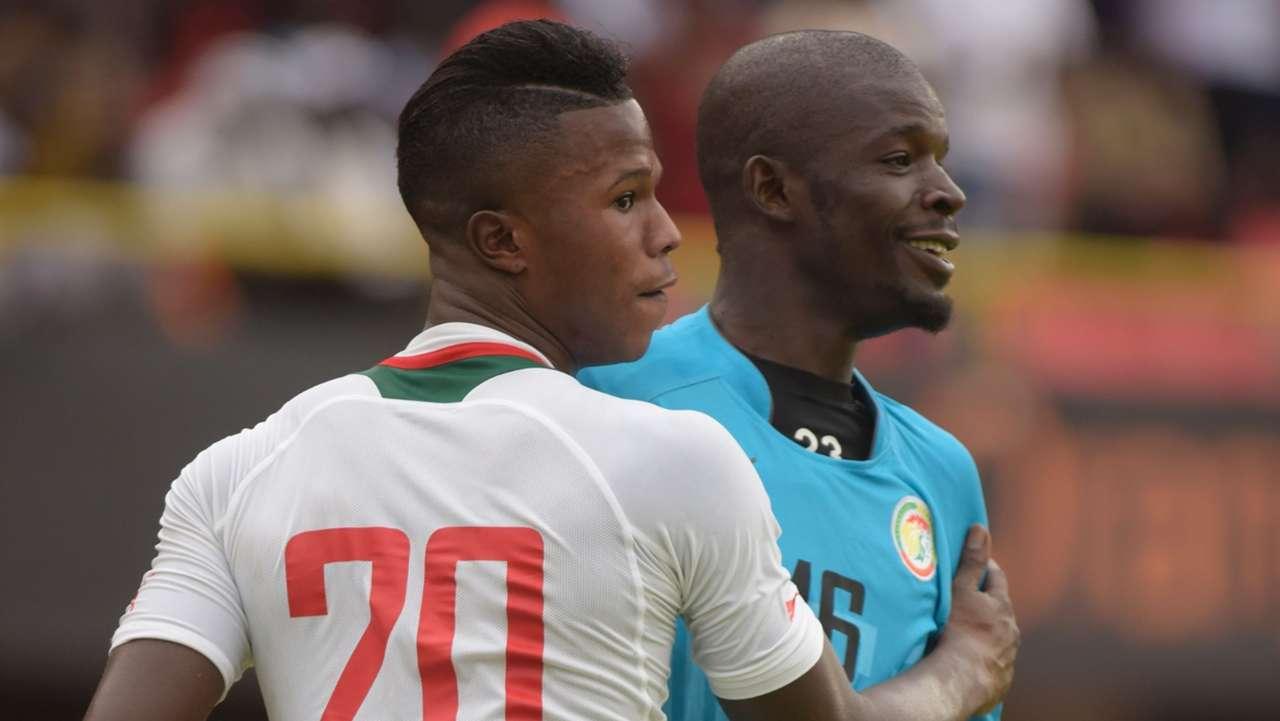 Keita Balde and Khadim Ndiaye of Senegal