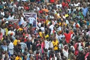 Ghana fans at the Kumasi stadium