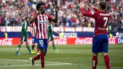 Thomas Partey & Antonie Griezmann of Atletico Madrid