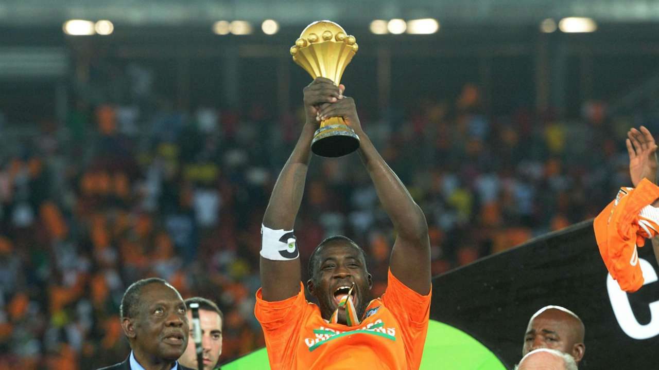 Yaya Toure lifts Afcon trophy