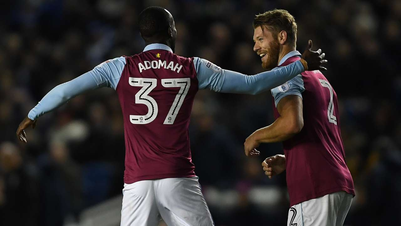 Albert Adomah & Nathan Baker of Aston Villa