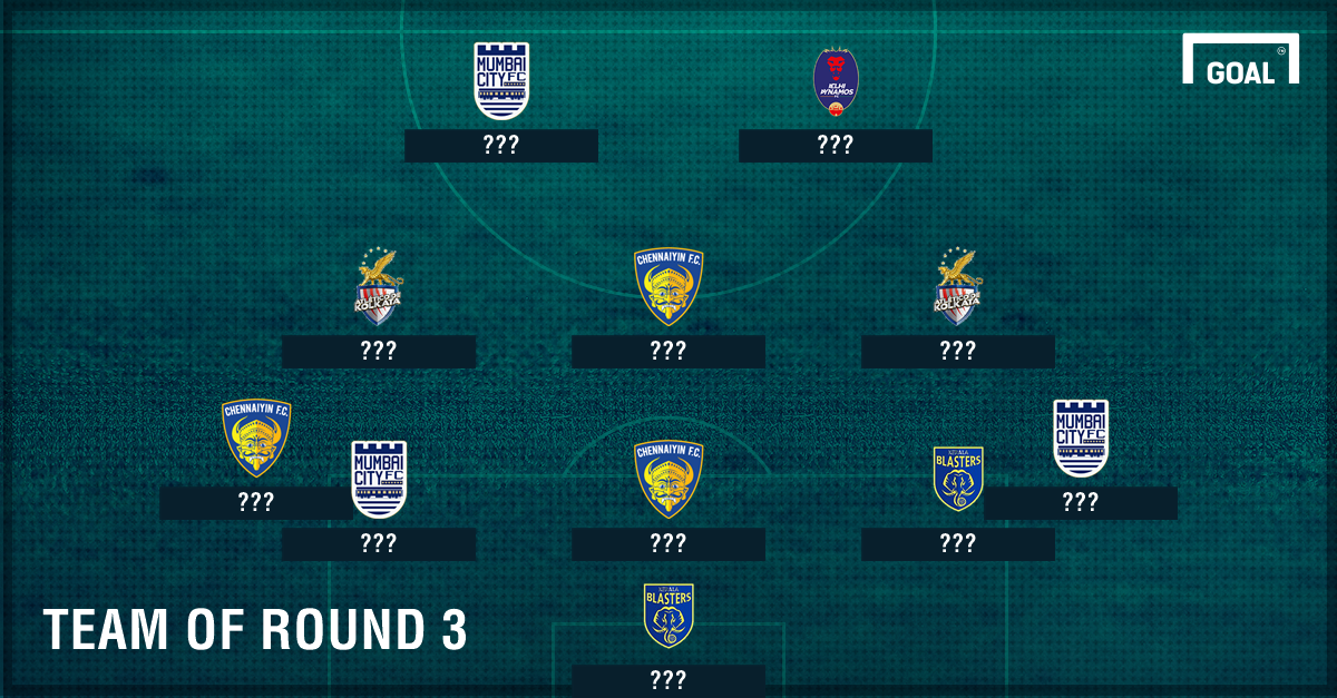 Indian Super League 2016 Team of the Round - 3