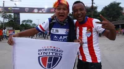 NorthEast United FC and Atletico de Kolkata ISL supporters