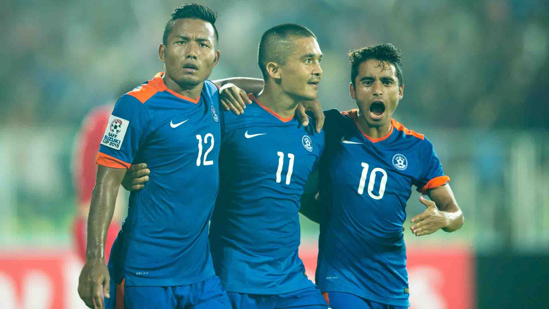 free shipping ff9e9 7dd08 India national football team defeat Bhutan 3-0 in unofficial ...
